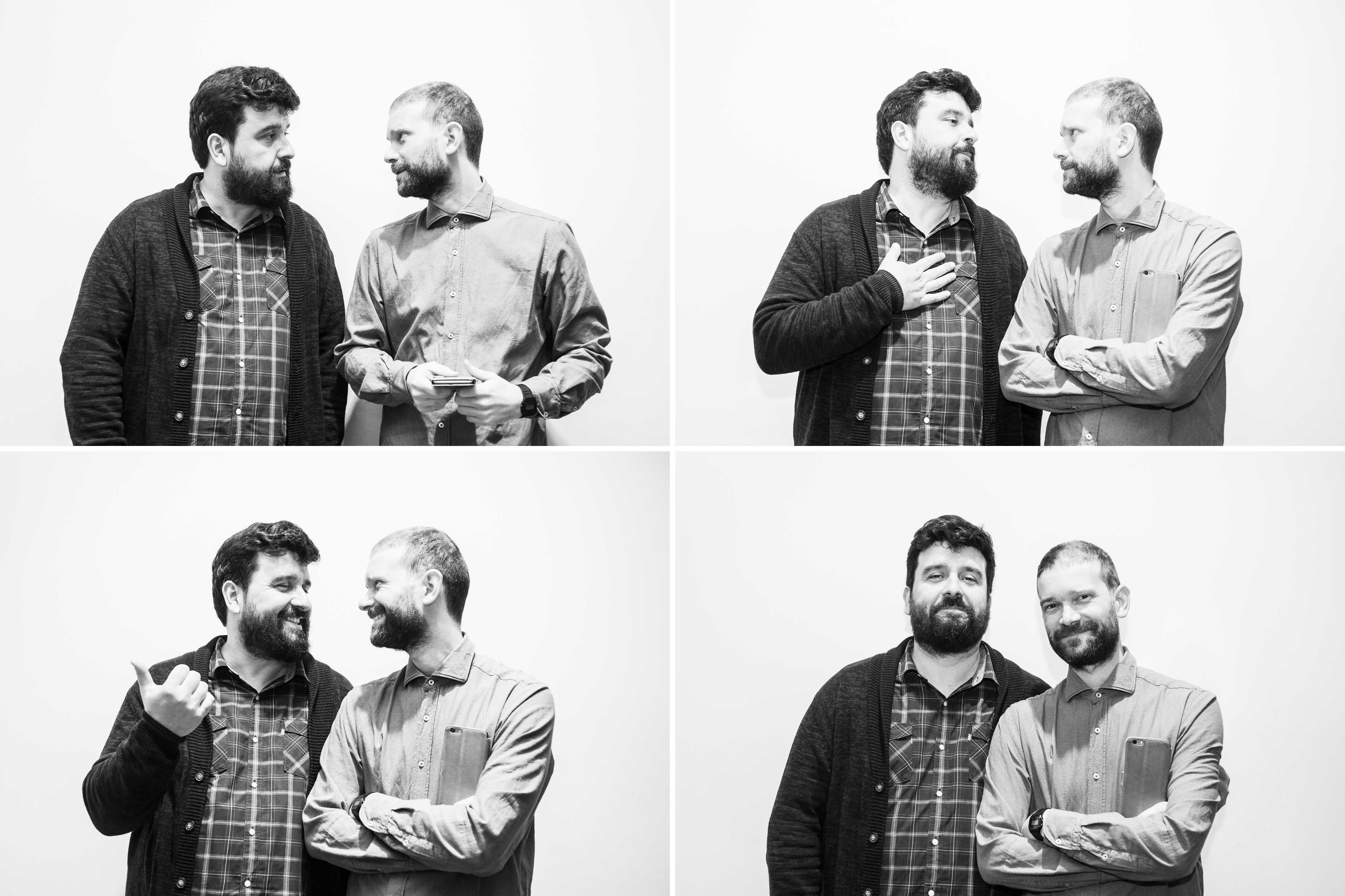 Cibrán Rico y Suso Vázquez forman Desescribir. Foto: Sandra G. Rey