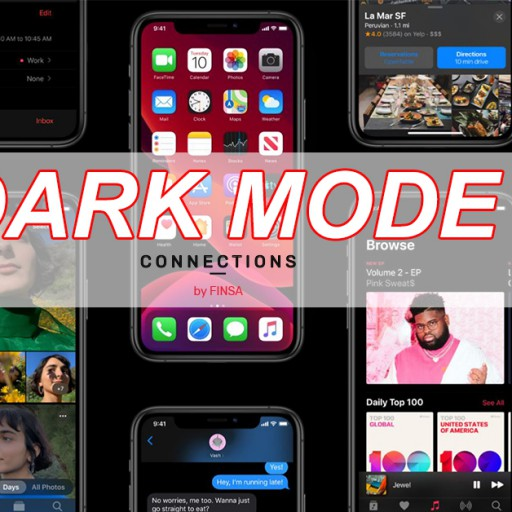 Dark mode is 'à la mode'